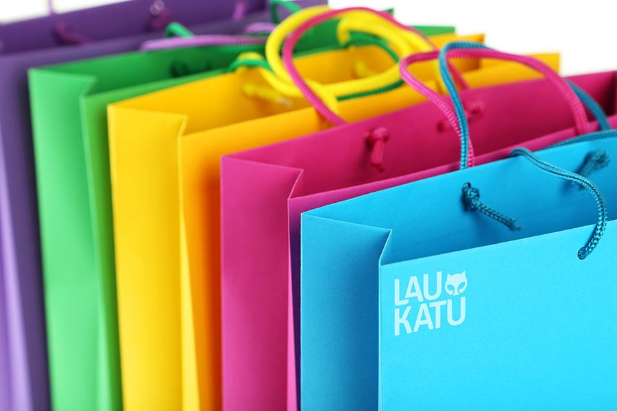 fondo bolsas colores servicios merchadising