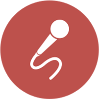 icono eventos micrófono