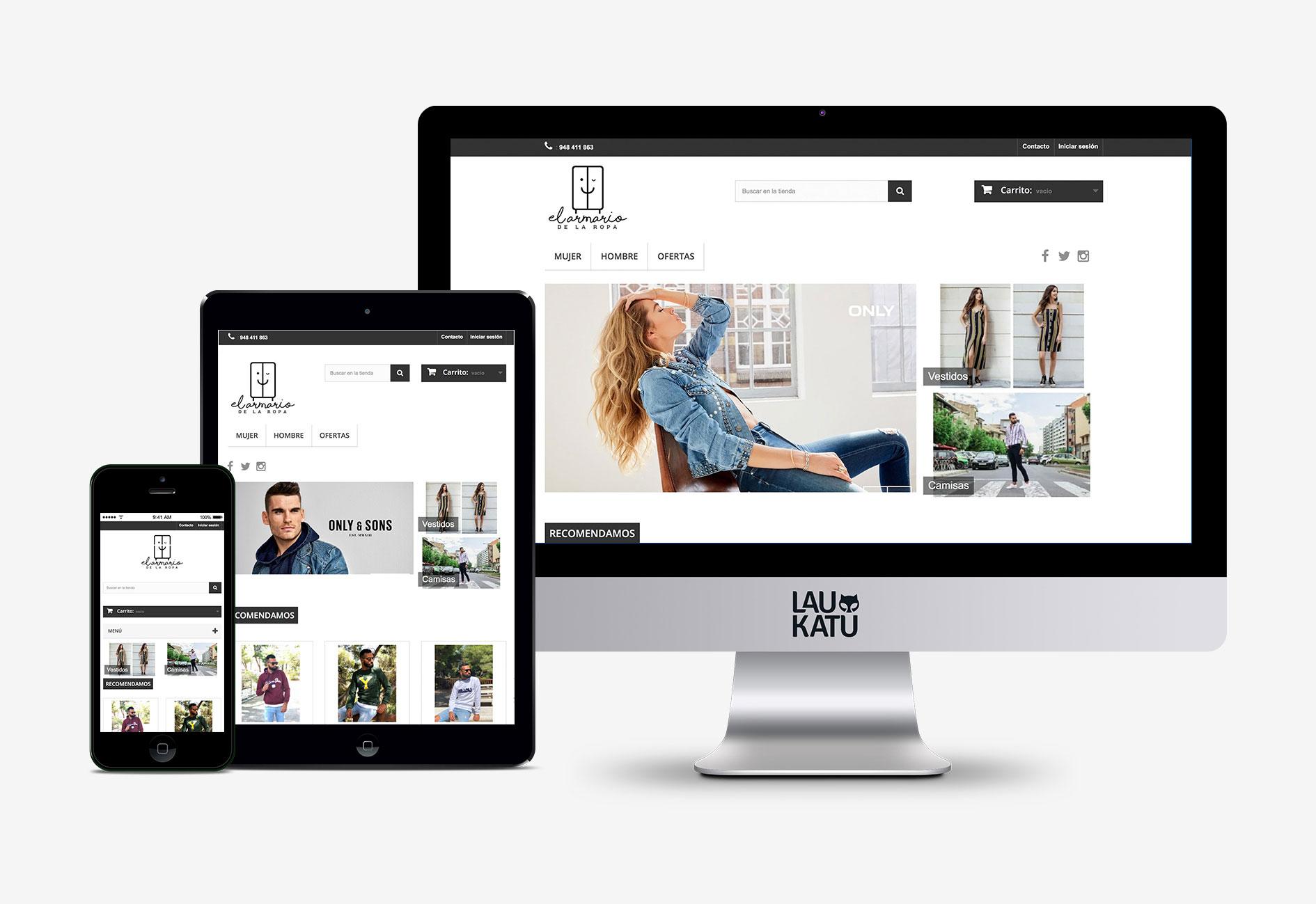 Web El armario de la ropa tienda online