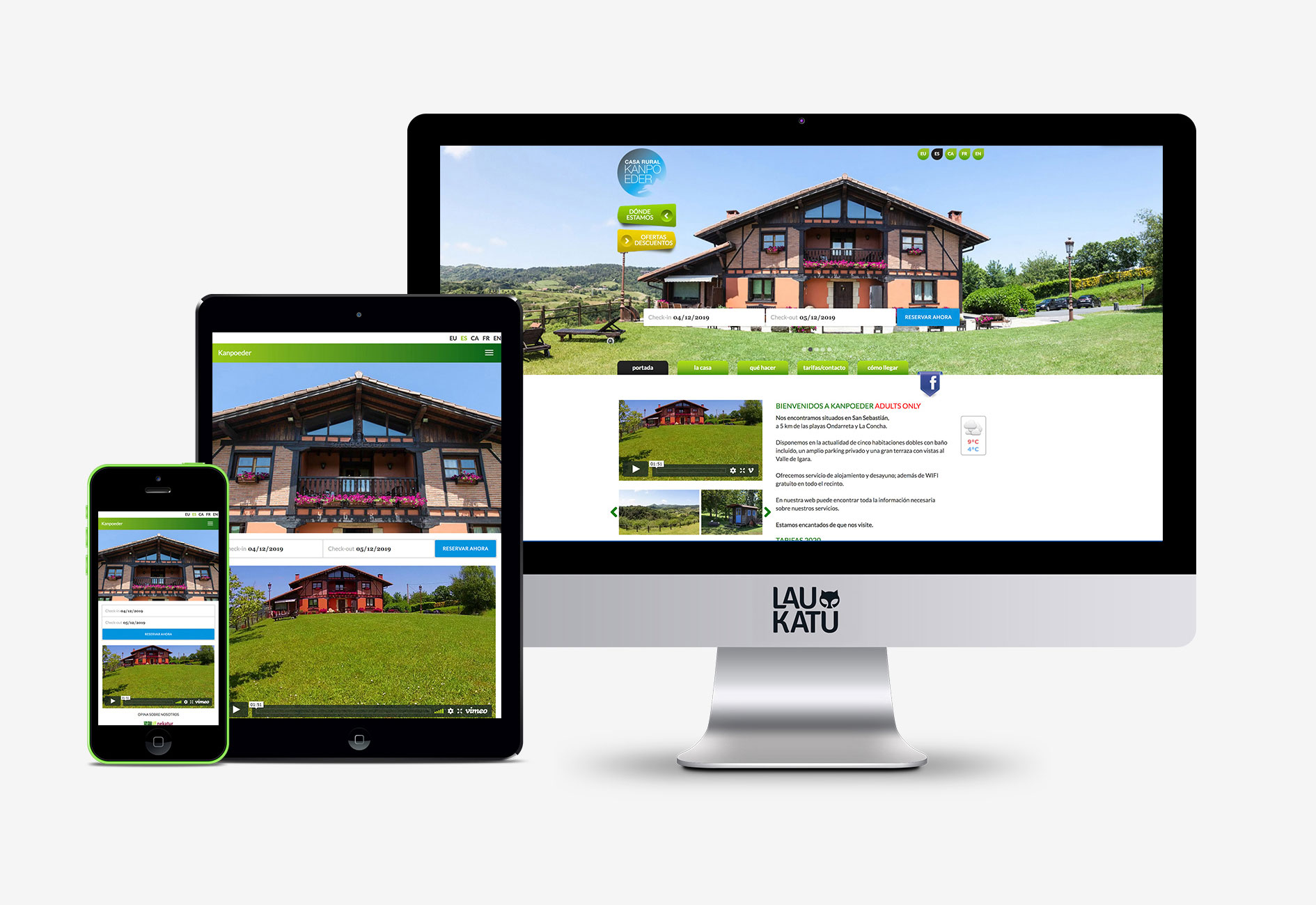 Web varios dispositivos Kanpoeder casa rural