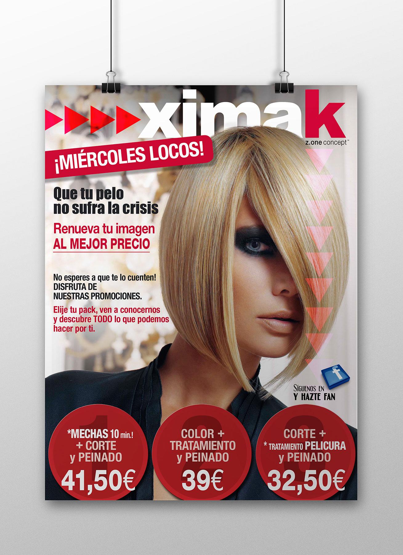 Cartelería promoción XIMAK