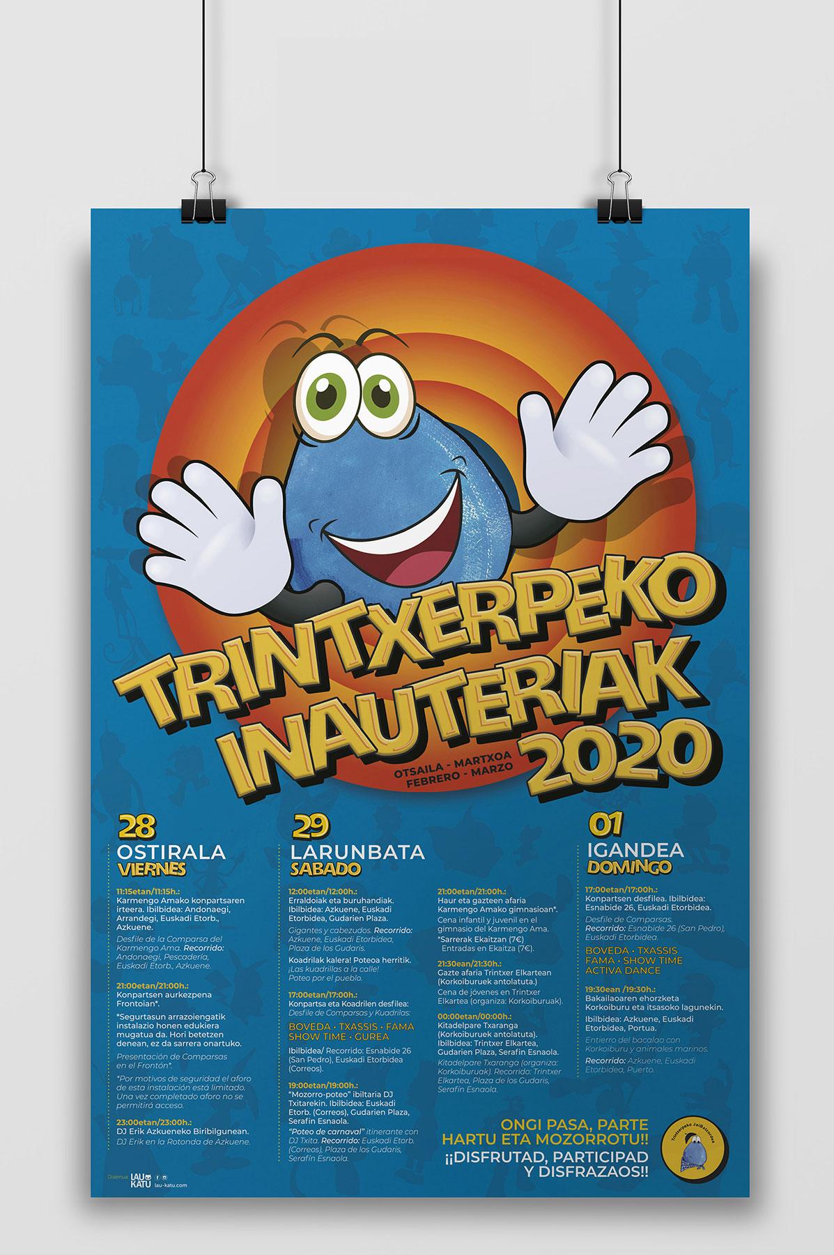 Cartelería Carnavales Trintxerpe 2020