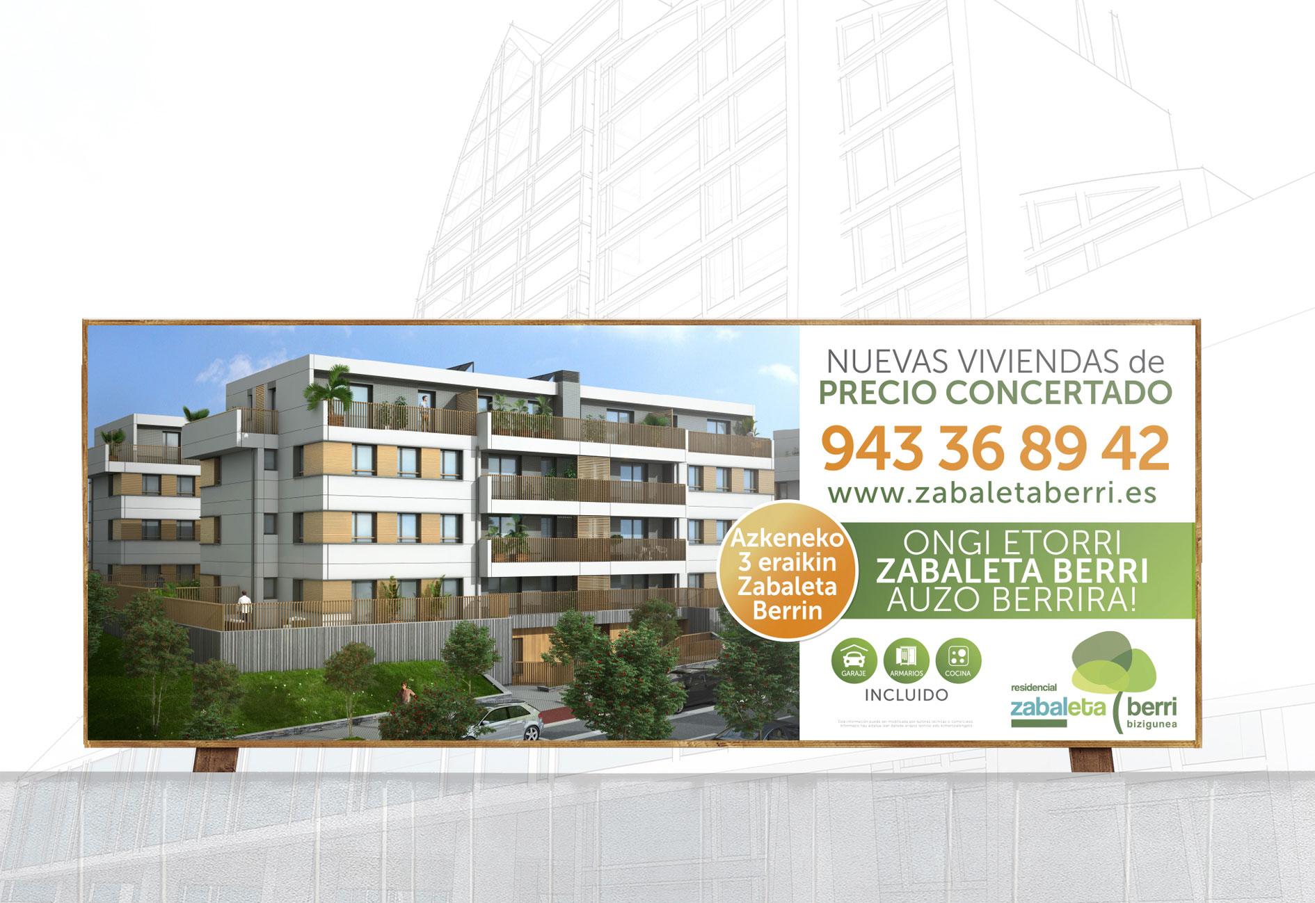 Valla de obra promoción Zabaletaberri