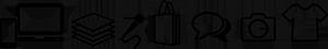 iconos servicios color negro
