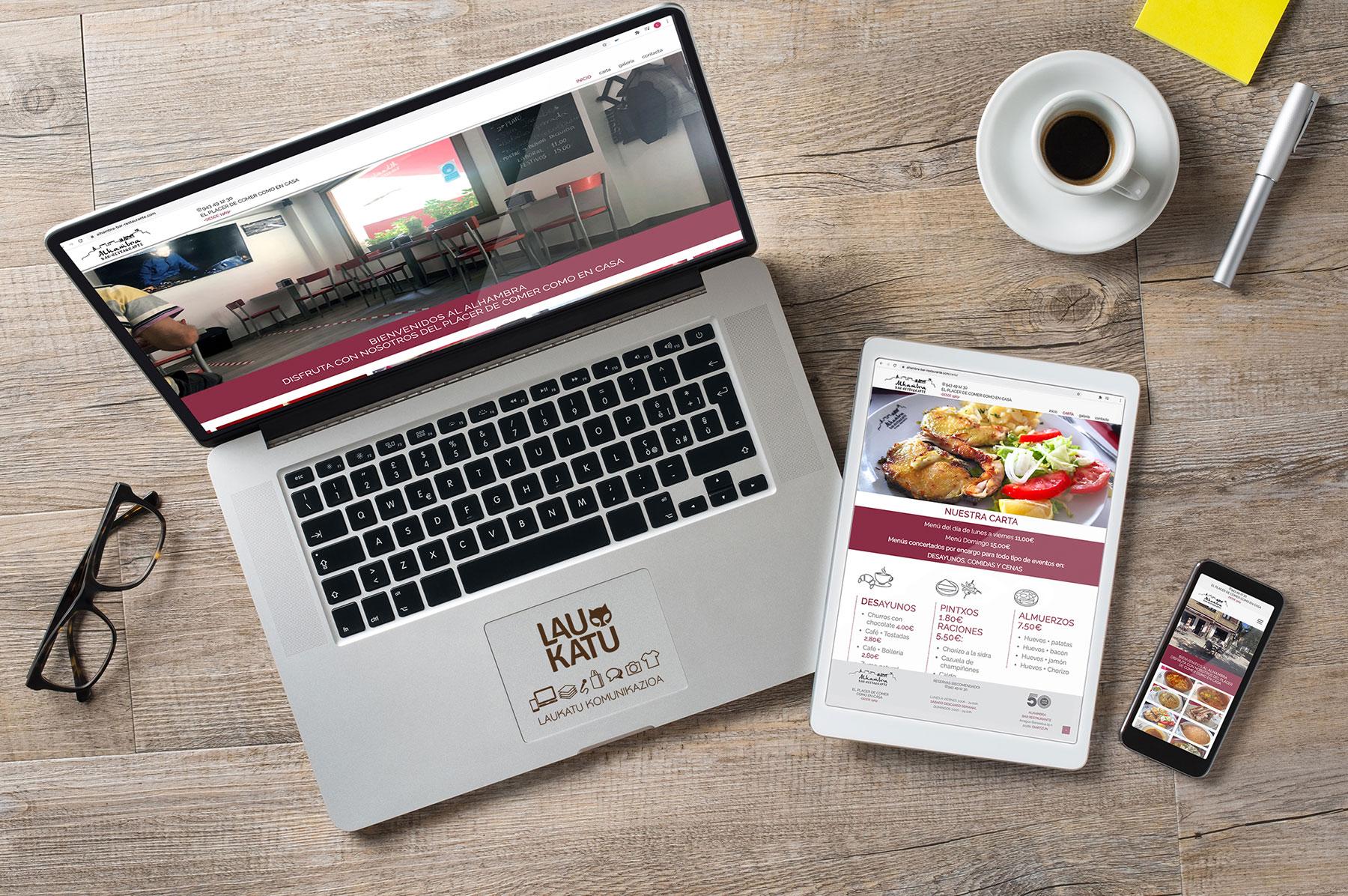 Web Restaurante Alhambra