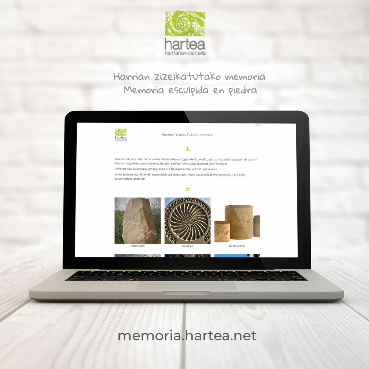 Web Hartea desktop Memoria