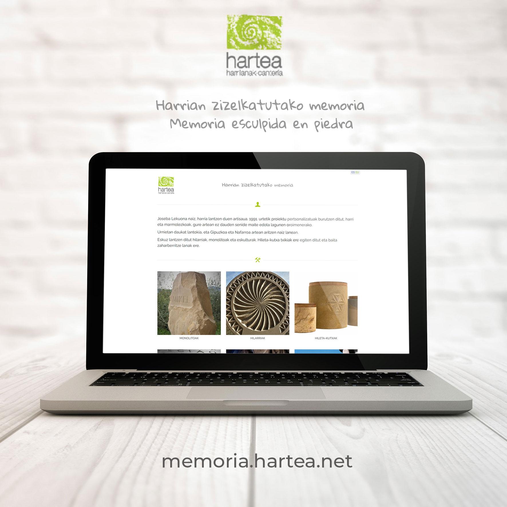Web Hartea Memoria
