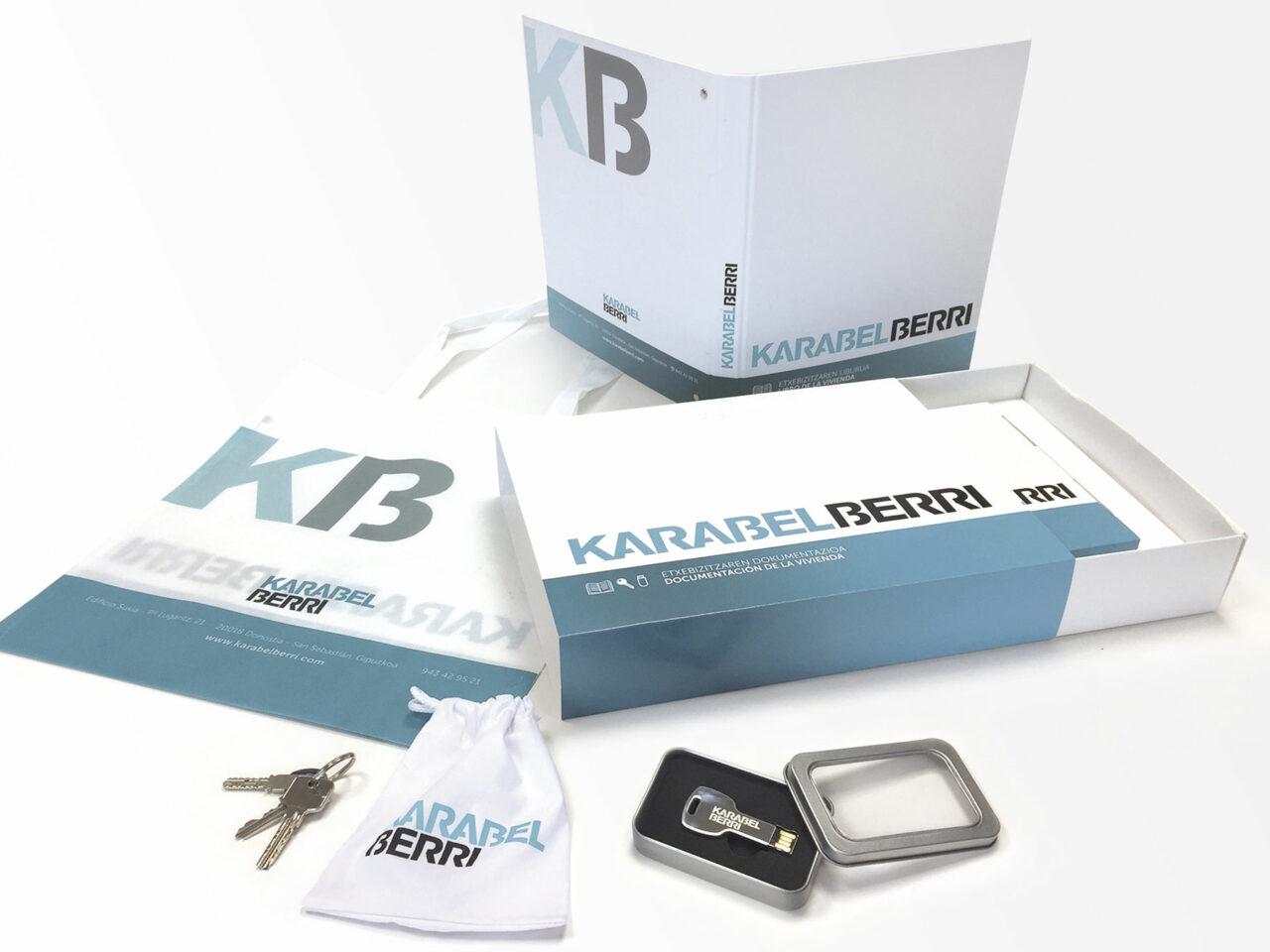 Kit vivienda llave, archivador, caja , bolsa Karabel Berri