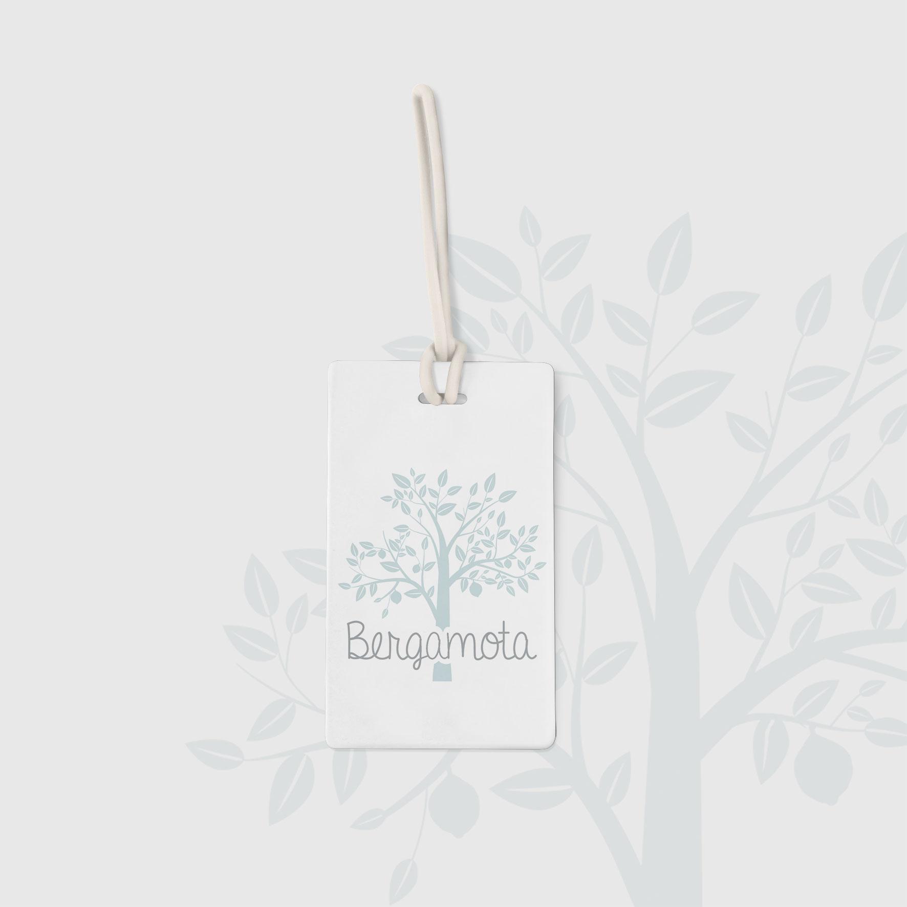 Etiqueta cartón logotipo ropa Bergamota